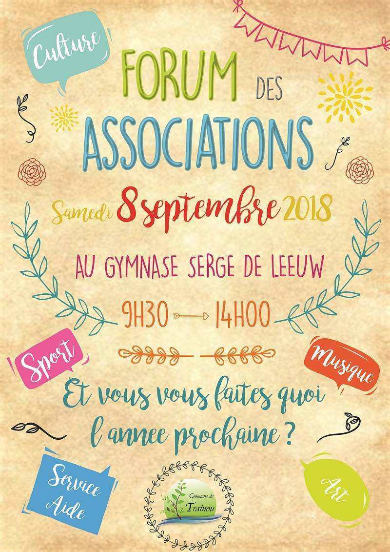 forum des associations de trainou de la rentrée 2018